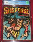 Suspense Comics issue 8 (1945) CLASSIC Spider Cover by L.B. Cole!  Satan Story!